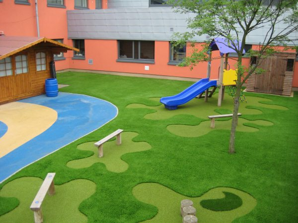 Children Play Area And Artificial Grass
